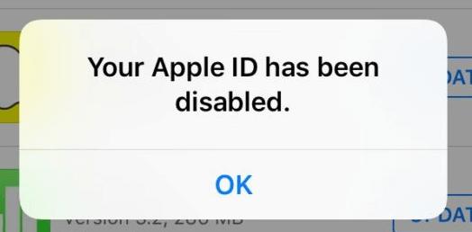 غیر فعال شدن اپل آیدی