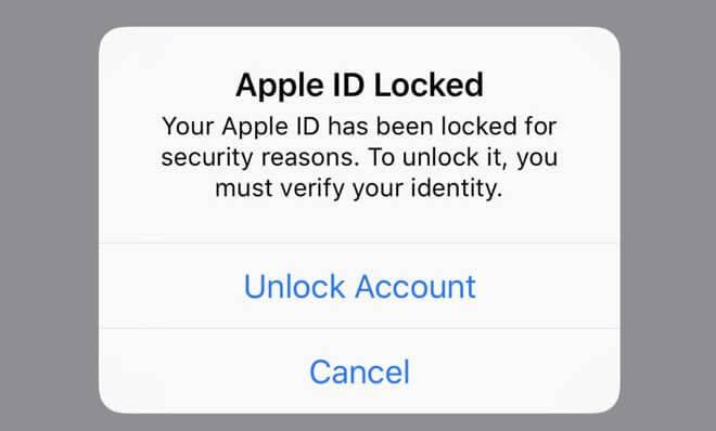 قفل شدن اپل آیدی